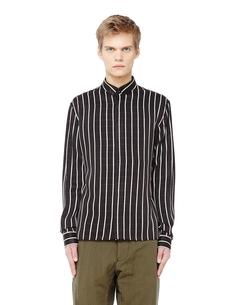 Черная рубашка в тонкую полоску Haider Ackermann
