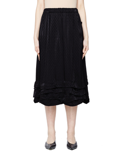 Черная юбка с рюшами Comme des Garcons CdG