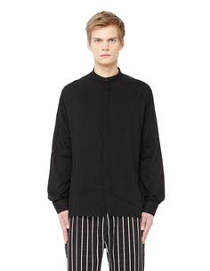 Черная рубашка с воротом стойкой Haider Ackermann