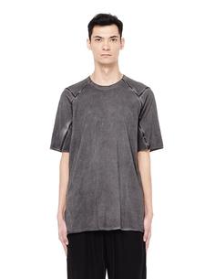 Хлопковая футболка с кожаными швами Isaac Sellam