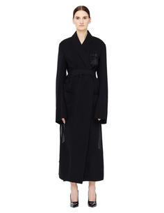 Полупрозрачное платье из шерсти Ann Demeulemeester