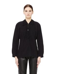 Хлопковая блузка с кружевом Blackyoto