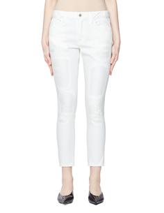 Белые джинсы с заплатками Junya Watanabe