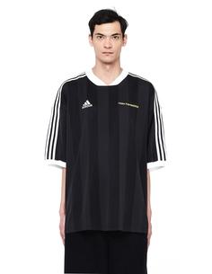 Черная футболка Adidas в полоску ГОША РУБЧИНСКИЙ