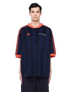 Синяя футболка Adidas в полоску ГОША РУБЧИНСКИЙ