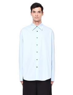 Голубая хлопковая рубашка Yang LI