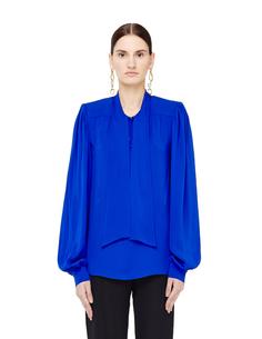 Шелковая блузка с воротником аскот Maison Margiela