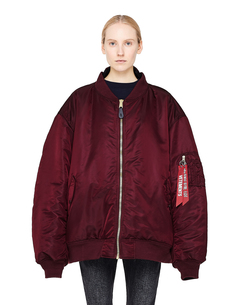 Бордовый двусторонний бомбер Alpha Industries Vetements