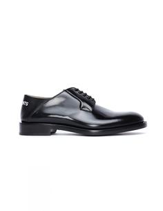 Кожаные туфли с логотипом Vetements