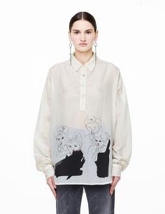 Рубашка Baron из хлопка и шелка Enfants Riches Deprimes