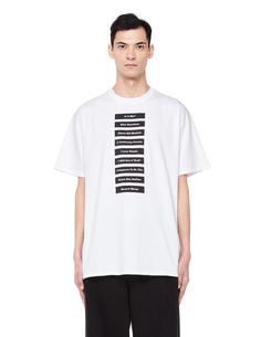 Белая хлопковая футболка с принтом RAF Simons