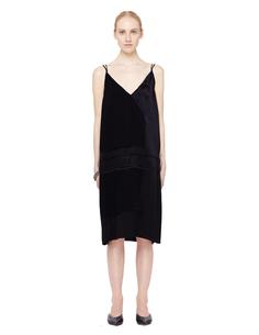 Черное шелковое платье-комбинация Urban Zen