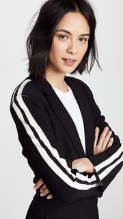 Norma Kamali Side Stripe Single Breasted Jacket