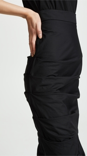 A.W.A.K.E. Black Gathered Skirt Awake