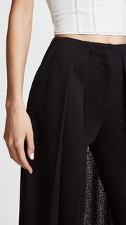 Hellessy River Slim Pants with Skirt Overlay