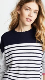SUNDRY Colorblock Stripes Sweater