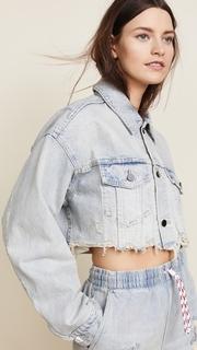 Denim x Alexander Wang Blaze Crop Jean Jacket