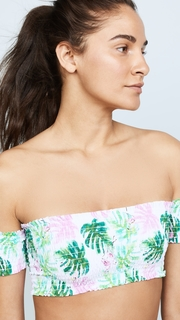 PilyQ Off Shoulder Bikini Top with Smocking