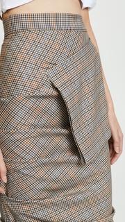 A.W.A.K.E. Plaid Grey Skirt with Pocket Awake