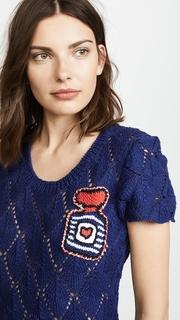 Michaela Buerger Crochet Dress with Perfume Bottle