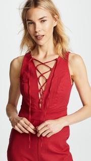 WAYF Cara Sleeveless Lace Up Jumpsuit