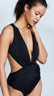 OYE Swimwear Elvira Daring Deep V One Piece