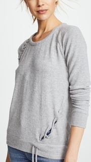Chaser Lace Up Raglan Pullover