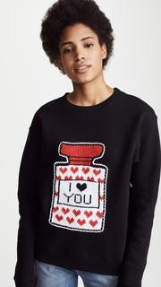 Michaela Buerger I Love You Perfume Bottle Sweatshirt