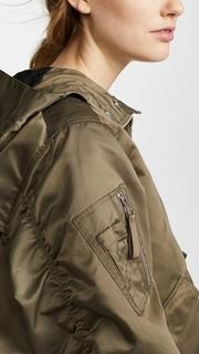 Hunter Boots Drawstring Bomber Jacket