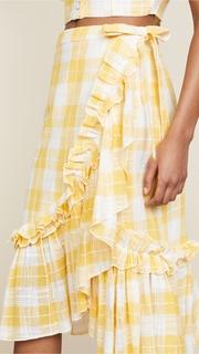 Red Carter Lucila Wrap Skirt