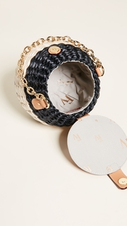 Frances Valentine Honeypot Woven Bucket Bag