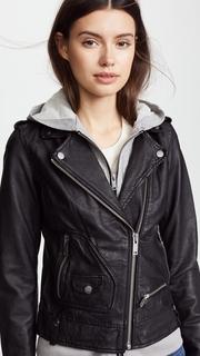 Doma Hoodie Leather Jacket