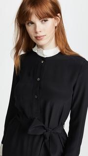 Rossella Jardini Shirt Dress with Ruffle Hem