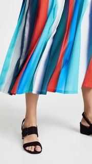 Stella Jean Vertical Stripe Midi Skirt