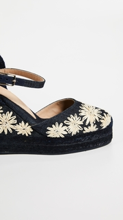 Castaner Carol Daisy Ankle Strap Wedges