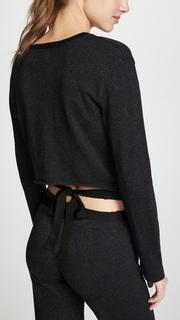 MONROW Tie Back Long Sleeve Top