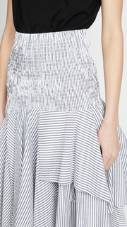 KENDALL + KYLIE Seersucker Convertible Ruched Skirt