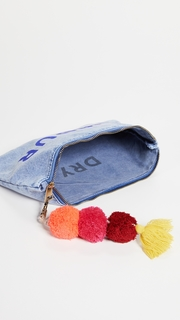 SUNDRY Amour Pouch with Pom Poms