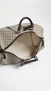 What Goes Around Comes Around Gucci Coated Canvas Carry On Duffel Bag