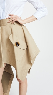 Monse Asymmetrical Skirt with Pocket