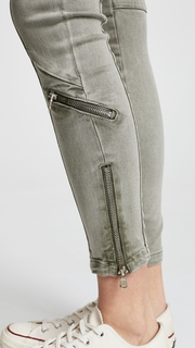 Blank Denim Utility Pants with Zips