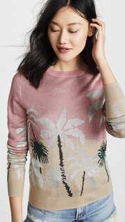 Scotch & Soda/Maison Scotch Fitted Palm Tree Sweater