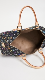 What Goes Around Comes Around Louis Vuitton Black Multi Keepall 45 Bag