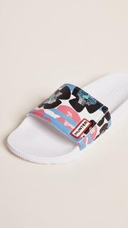Hunter Boots Original Floral Stripe Adjustable Slides