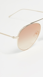 Illesteva Dorchester Gradient Mirrored Sunglasses