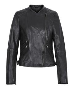 Кожаная куртка на молнии с воротником-стойкой La Reine Blanche