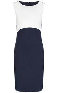 Комбинированное платье без рукавов La Reine Blanche