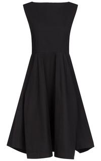 Черное платье без рукавов La Reine Blanche