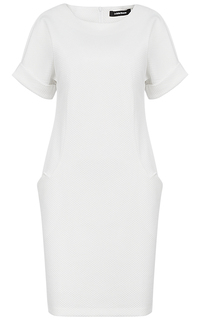 Белое платье с короткими рукавами La Reine Blanche
