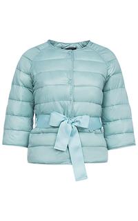 Утепленная куртка с текстильным поясом La Reine Blanche